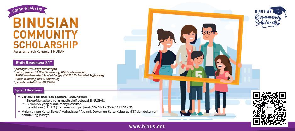 BINUSIAN Community Scholarship for School