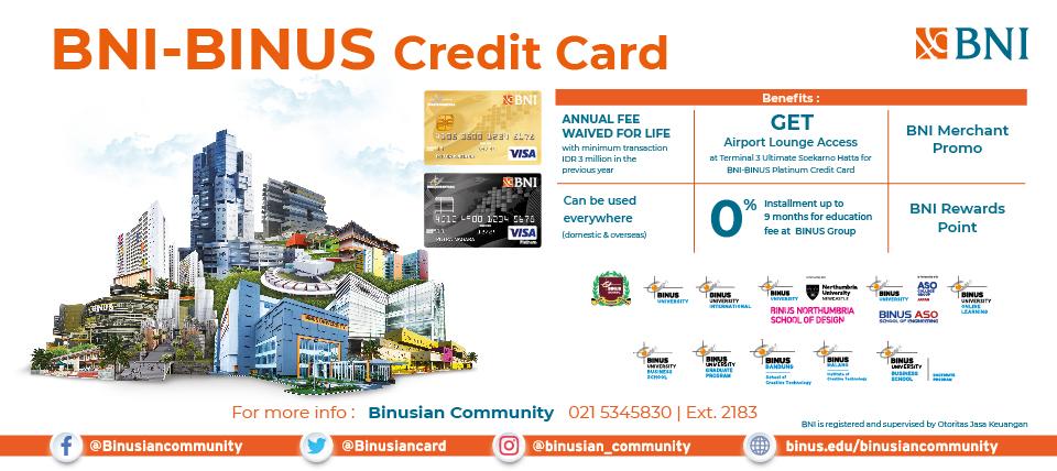 BNI BINUS Credit Card