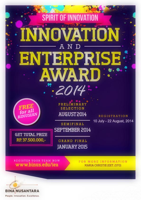 INNOVATION AND ENTERPRISE AWARD 2014