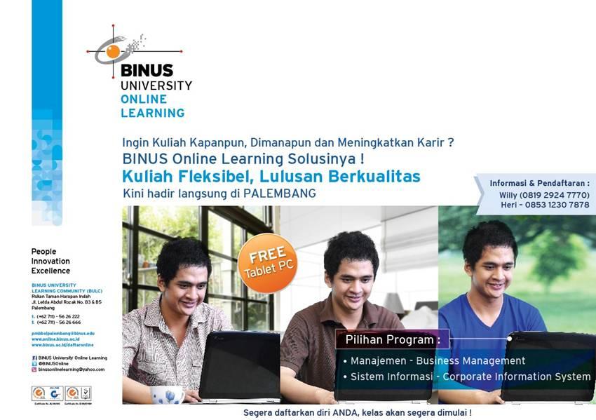 BINUS ONLINE LEARNING telah hadir di Palembang