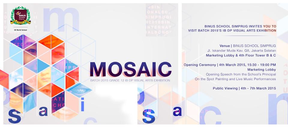 Mosaic : Batch 2015 Grade 12 IB DP Visual Arts Exhibition