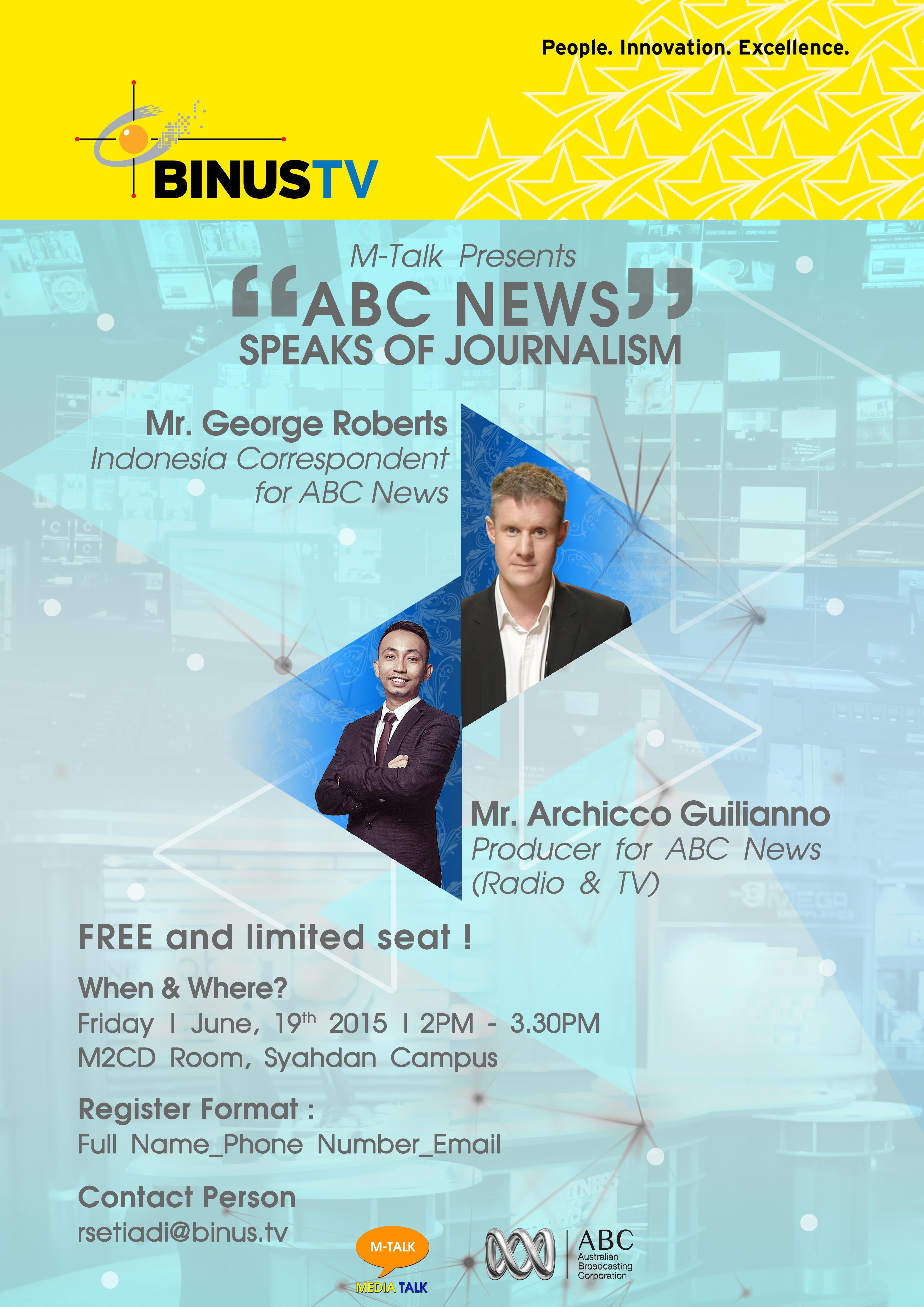 ABC NEWS : Speaks of Journalism