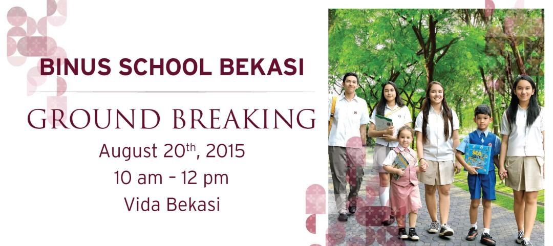 BINUS SCHOOL Bekasi Ground Breaking
