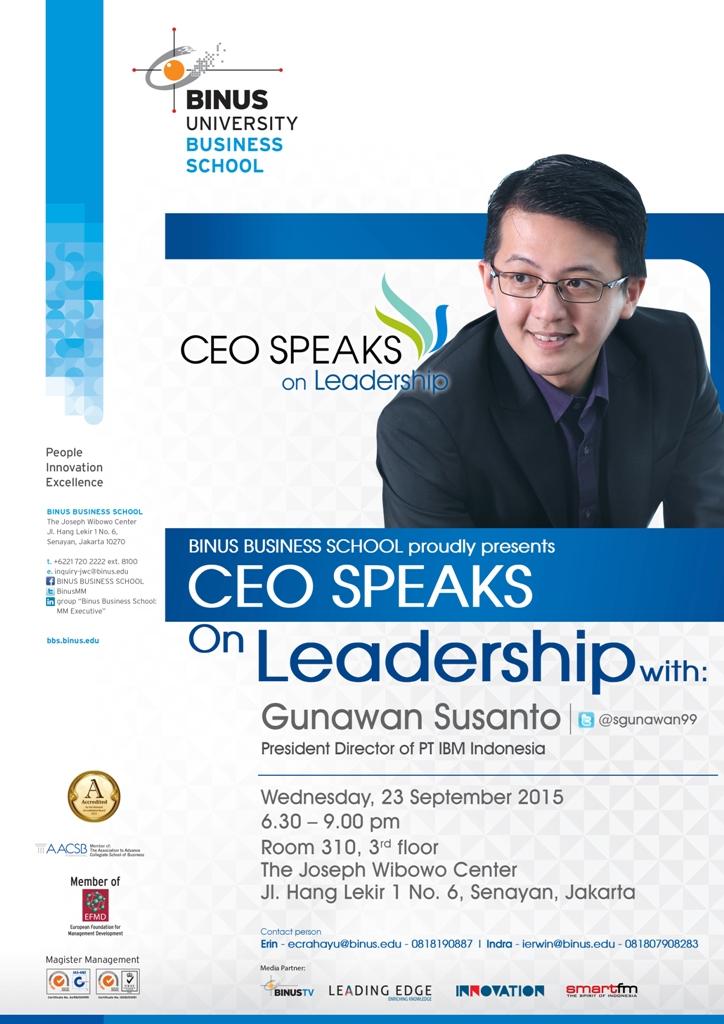 CEO SPEAKS ON LEADERSHIP with IBM INDONESIA