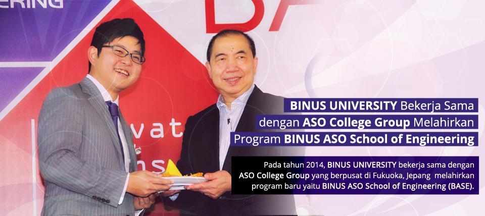 BINUS UNIVERSITY Bekerja Sama Dengan ASO College Group Melahirkan Program Baru BINUS ASO School of Engineering