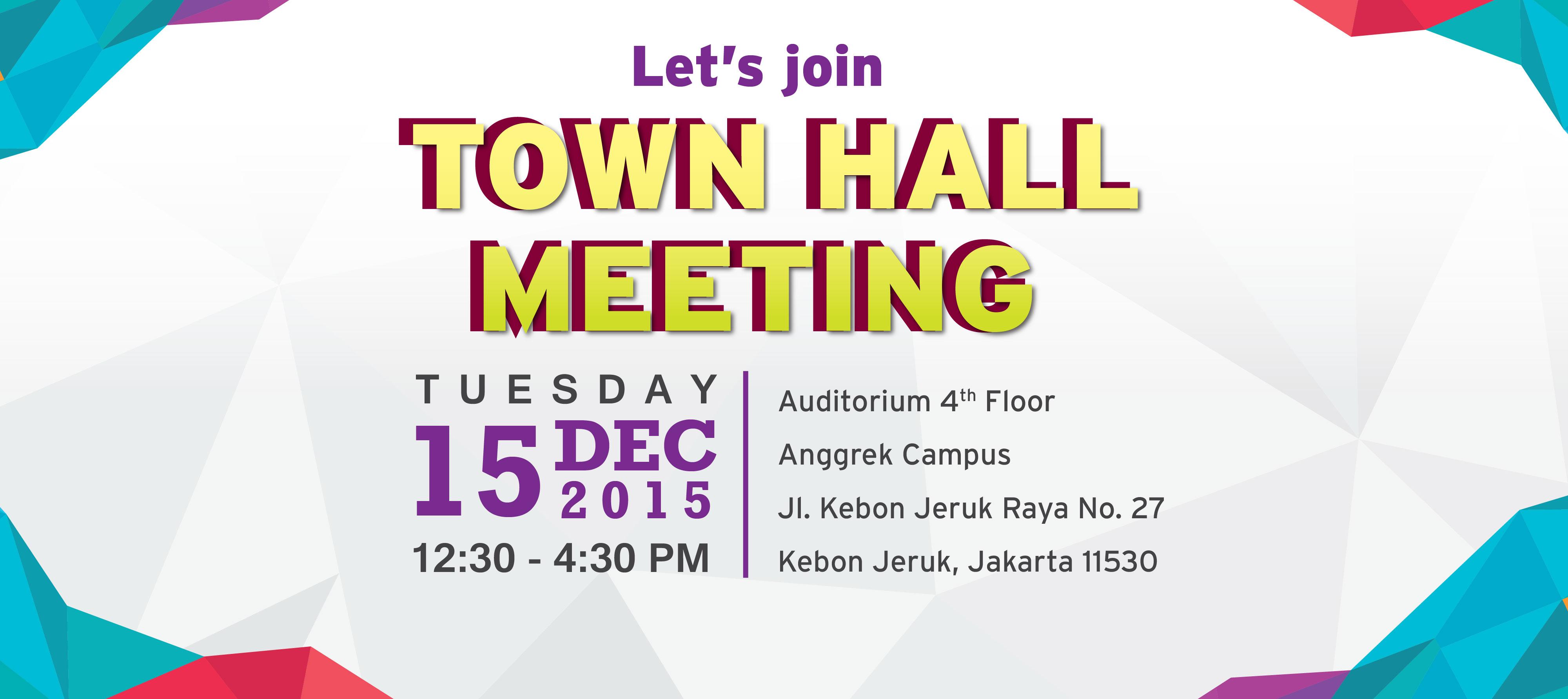 Town Hall Meeting Bina Nusantara Group