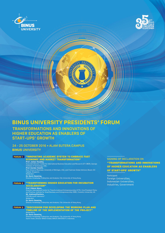 President Forum Poster 01-01
