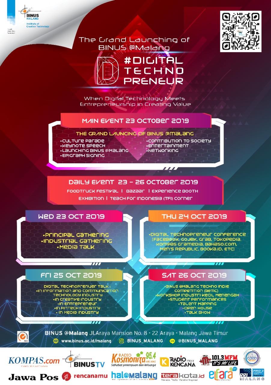 #DigitalTechnopreneur - The Grand Launching of BINUS @Malang