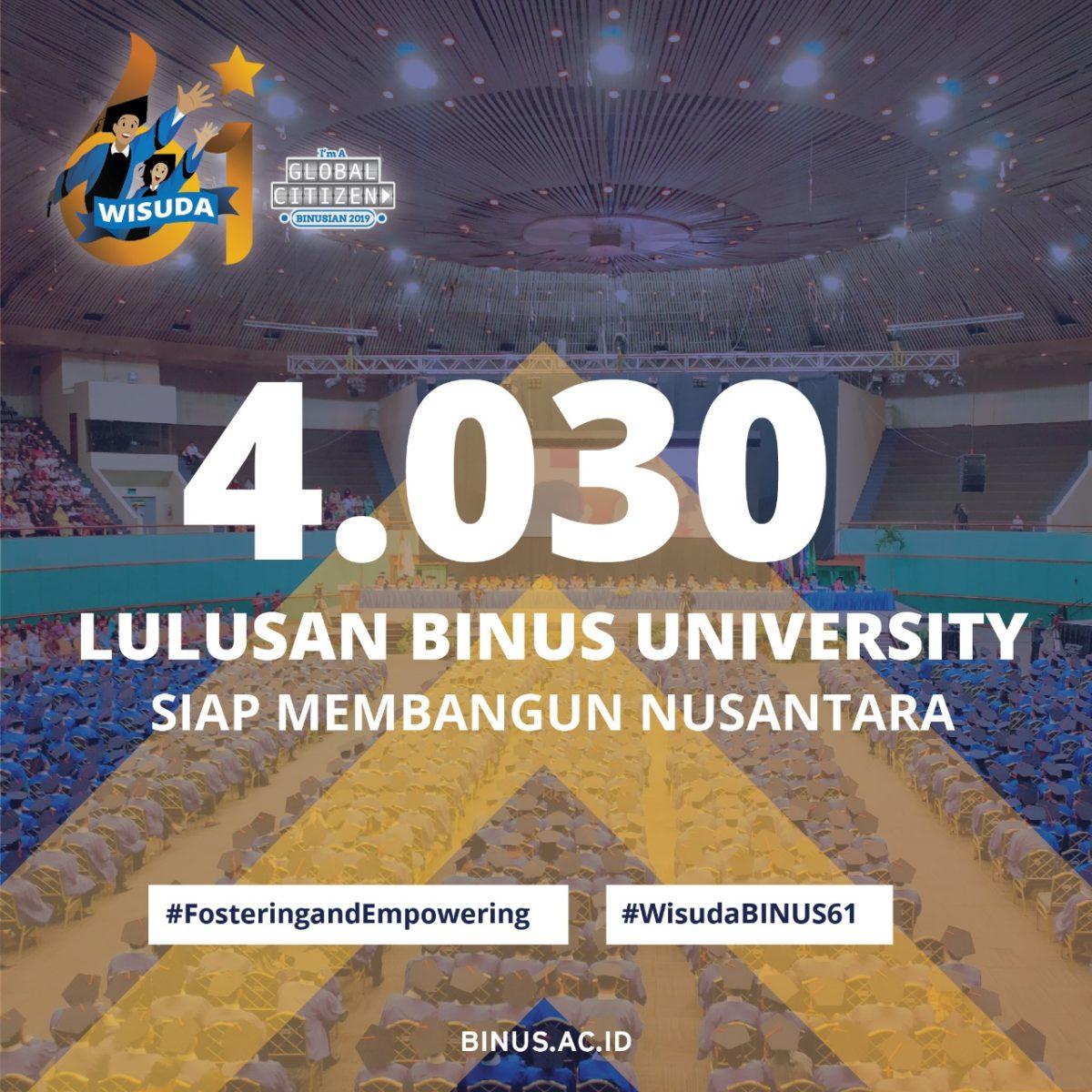 Wisuda BINUS ke-61 Menambah Jumlah Komunitas BINUSIAN Yang Siap Berkontribusi Bagi Nusantara